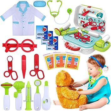 Amazon.com: Kit médico para niños, 22 piezas, juguetes de ...