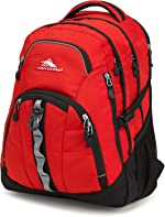 High Sierra Access 2.0 Laptop Backpack, Crimson/Black, One Size