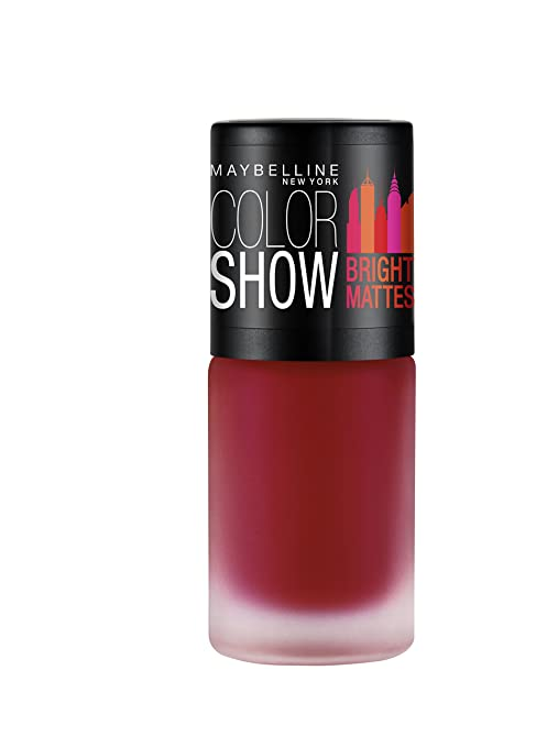Maybelline New York Colour Show Bright Matte Nail Paint Brilliant Red 6ml