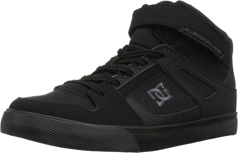 12 M US Little Kid DC Pure Elastic Skate Shoe Black
