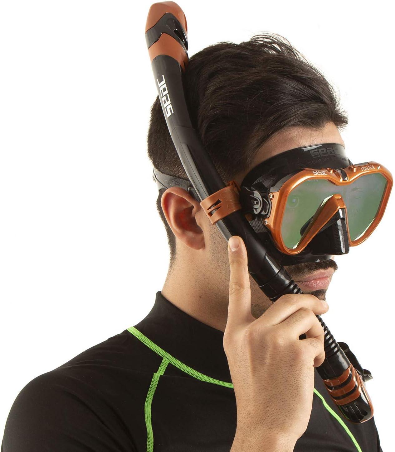 Les Loisirs ou l/'apn/ée de Haute qualit/é fabriqu/é en Italie Mixte SEAC Italica Masque Monoverre pour la plong/ée Professionnelle