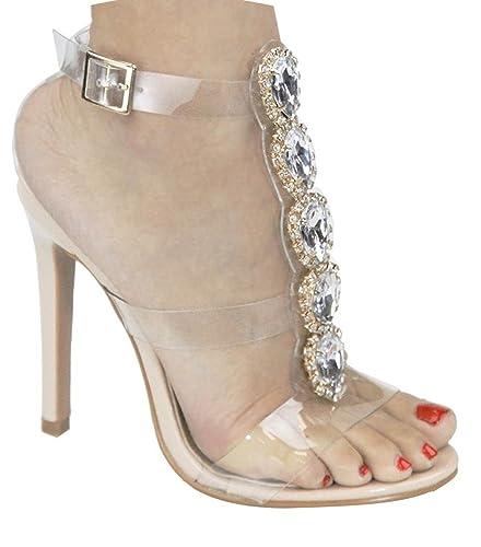 Clear Rhinestone Sandals