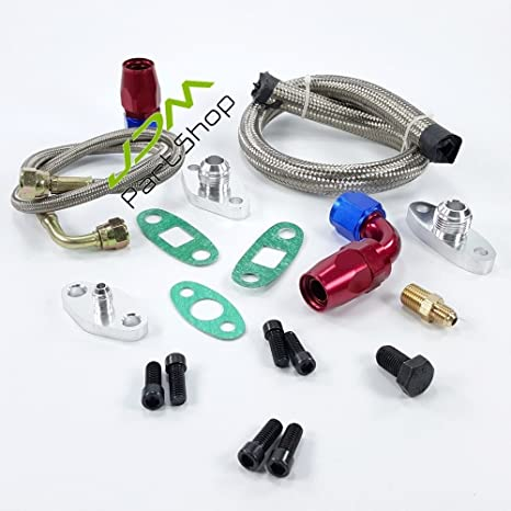 Turbo turbina del turbocompresor Petróleo Línea Kits Kits de alimentación línea + Volver línea para Toyota