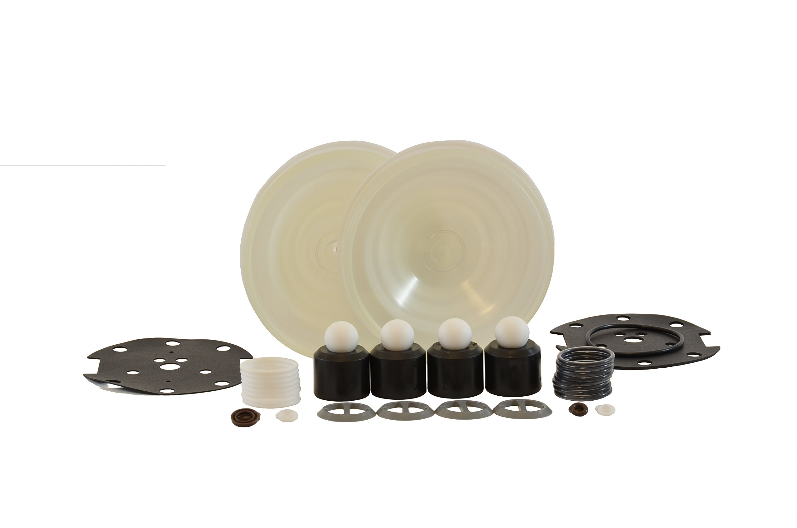 Graco Husky D05911 515 Complete Fluid Repair Kit: Polypropylene Seats, PTFE Balls, PTFE Diaphragms