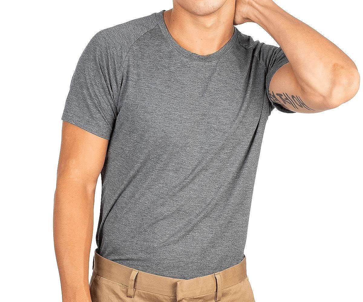 Mr Davis Mens Bamboo Viscose Tailored Cut Crew Neck Undershirt 6 Pack Tailored/_Cut/_Crew/_6P