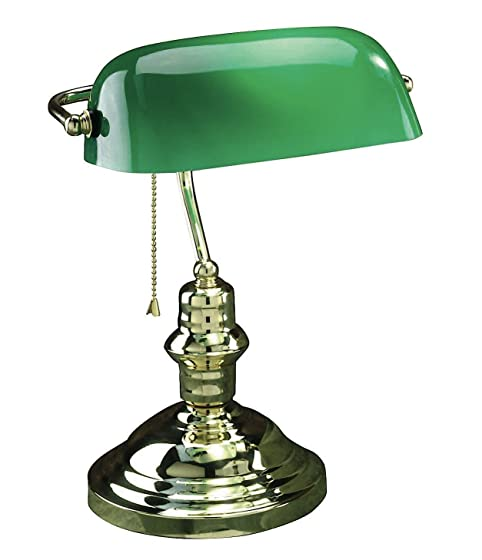 Lite Source LS-224AB Banker 14-1/2-Inch 60-Watt Banker's Lamp with ...