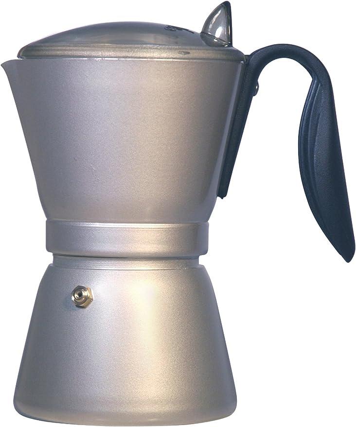 Melitta 3176070003627 - Cafetera italiana en aluminium para 6 tazas, asa de silicona, color plateado y negro: Amazon.es: Hogar