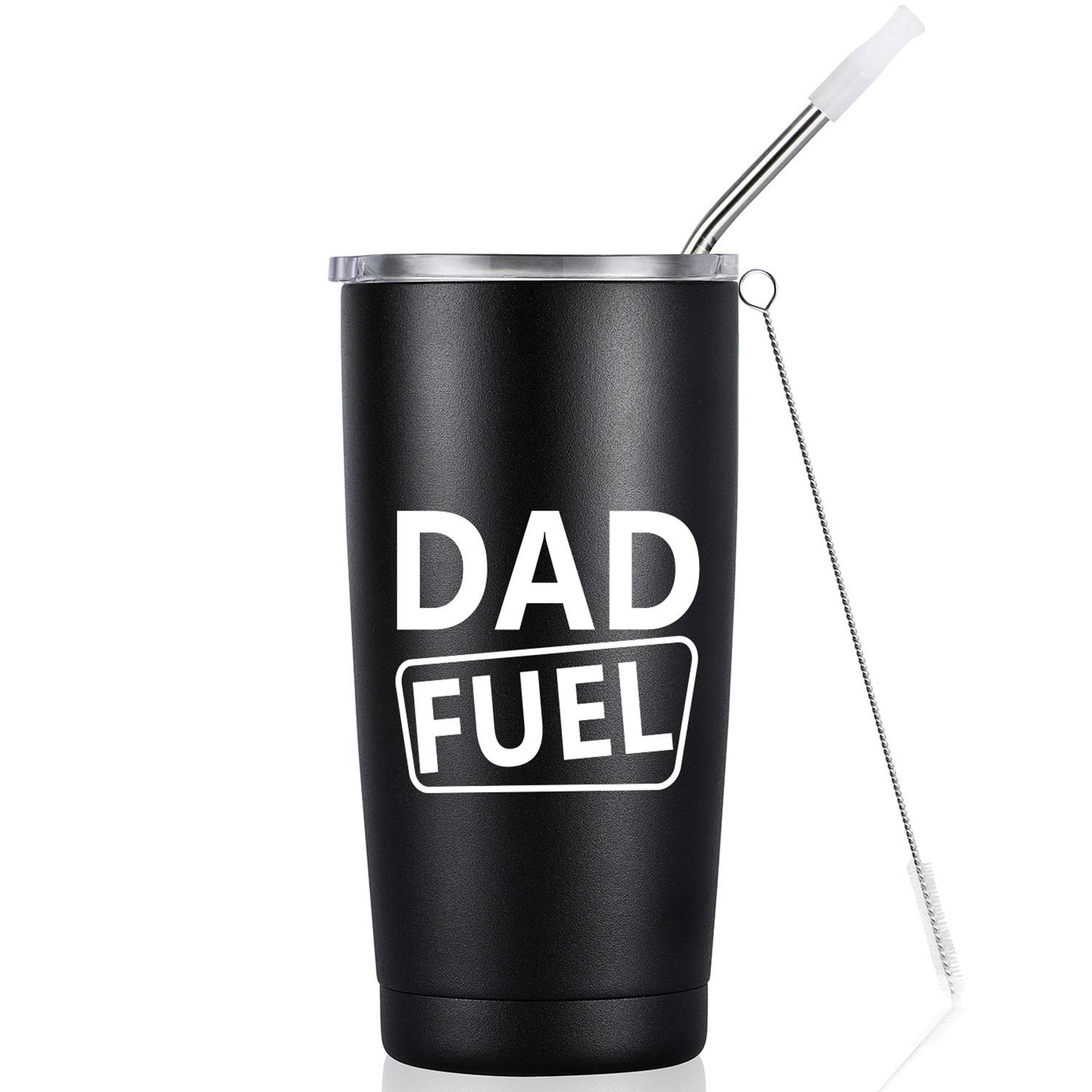 75c989a43f2 Amazon.com: Dad Fuel | Funny Birthday Tumbler | 20 Oz Vacuum-Insulated  Stainless Steel Tumbler Mug with Lid, Birthday Gift for Dad Men Father Daddy  Him: ...