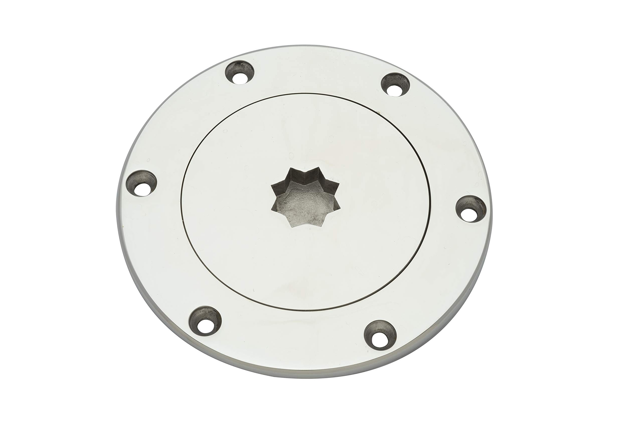 Buchan Marine Deck Plate 5'' Stainless Steel with Star Pattern (5) by Buchan Marine