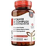 Vitamina B Complex con Vitamina D - 365 Tabletas Vegetarianas (Suministro para 365 Días) - Dosis Altas de 8 Formas de…