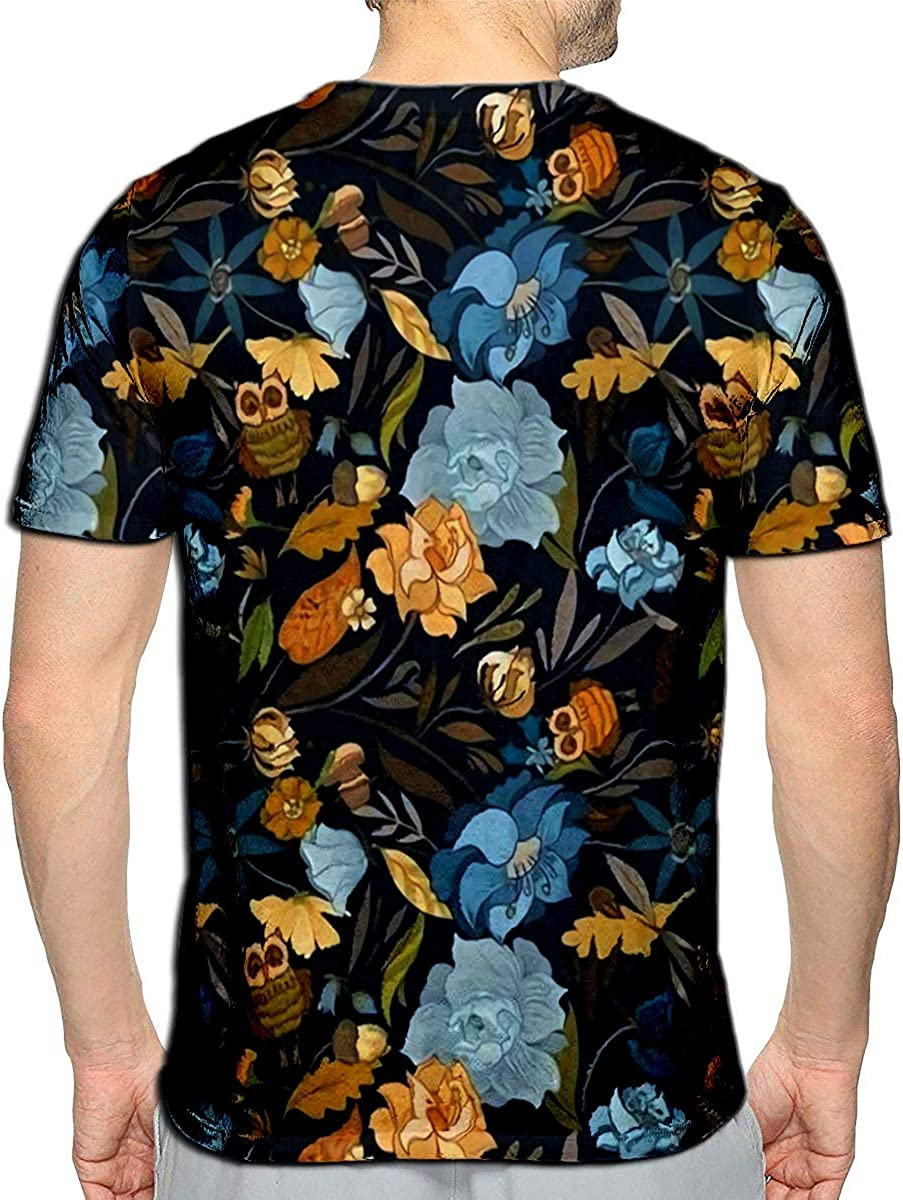 3D Printed T-Shirts Halftone Colorful Retro Round Flower Leaf Kaleidoscope Short Sleeve Tops Tees