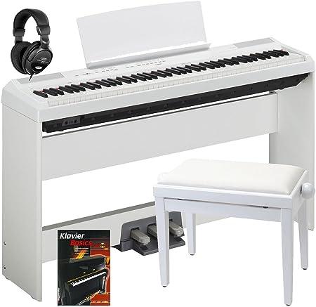 Yamaha P-115WH - Juego completo de piano (incluye soporte ...