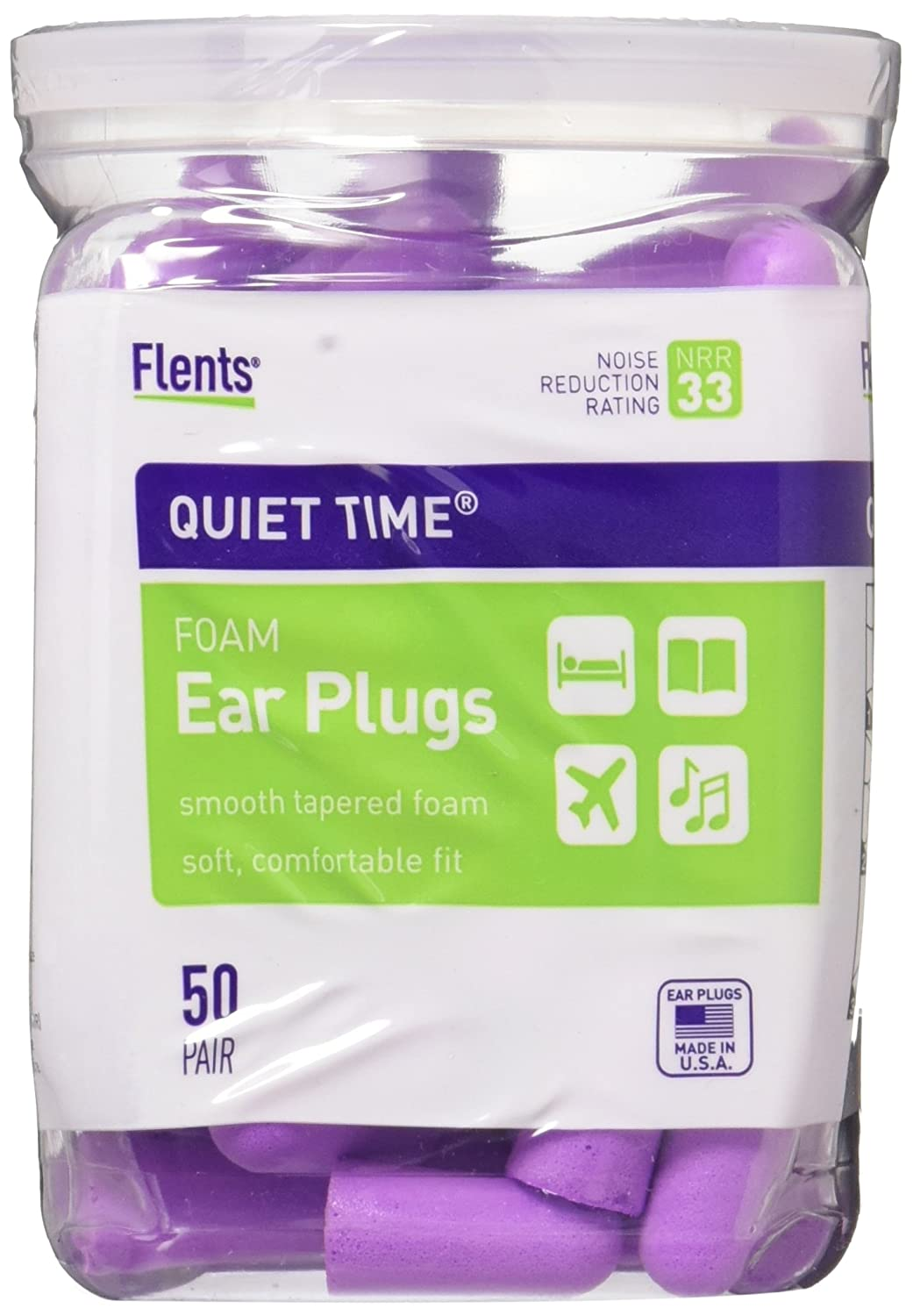 Flents Quiet Time Soft Comfort Ear Plugs 50 Pair (Pack of 2) by Flents by Apothecary Products   B00GGQIZ18