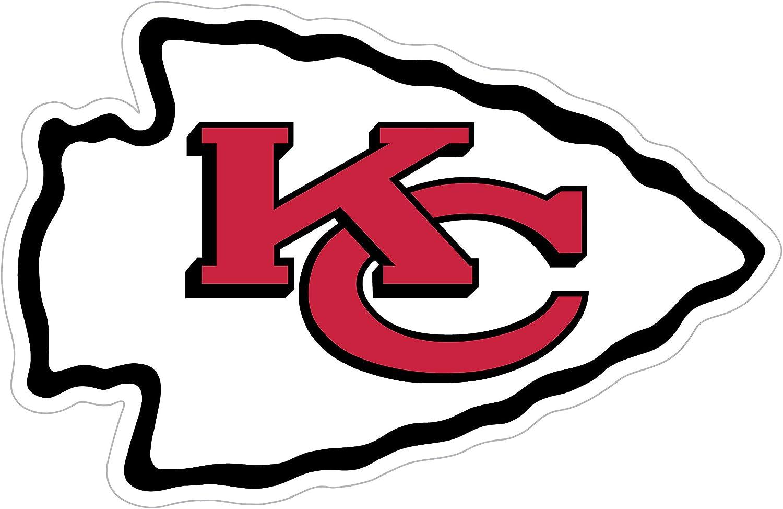 NFL Siskiyou Sports Fan Shop Kansas City Chiefs Logo Magnets 8 inch sheet Team Color
