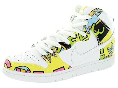 Nike Men's Dunk High Prm Dls SB QS White/Firefly Skate Shoe 9 Men US