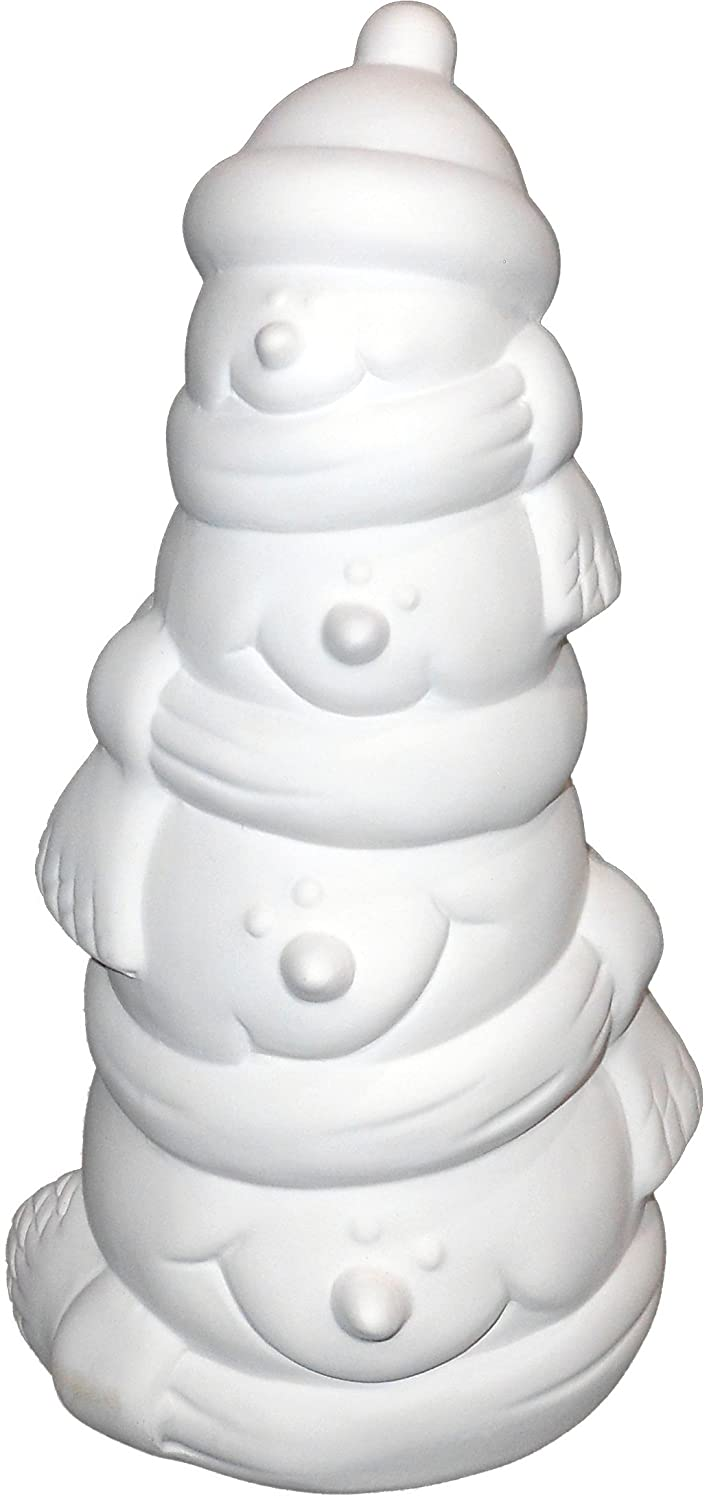 Paint Your Own Wintery Ceramic Keepsake New Hampshire Craftworks Snowman Stack