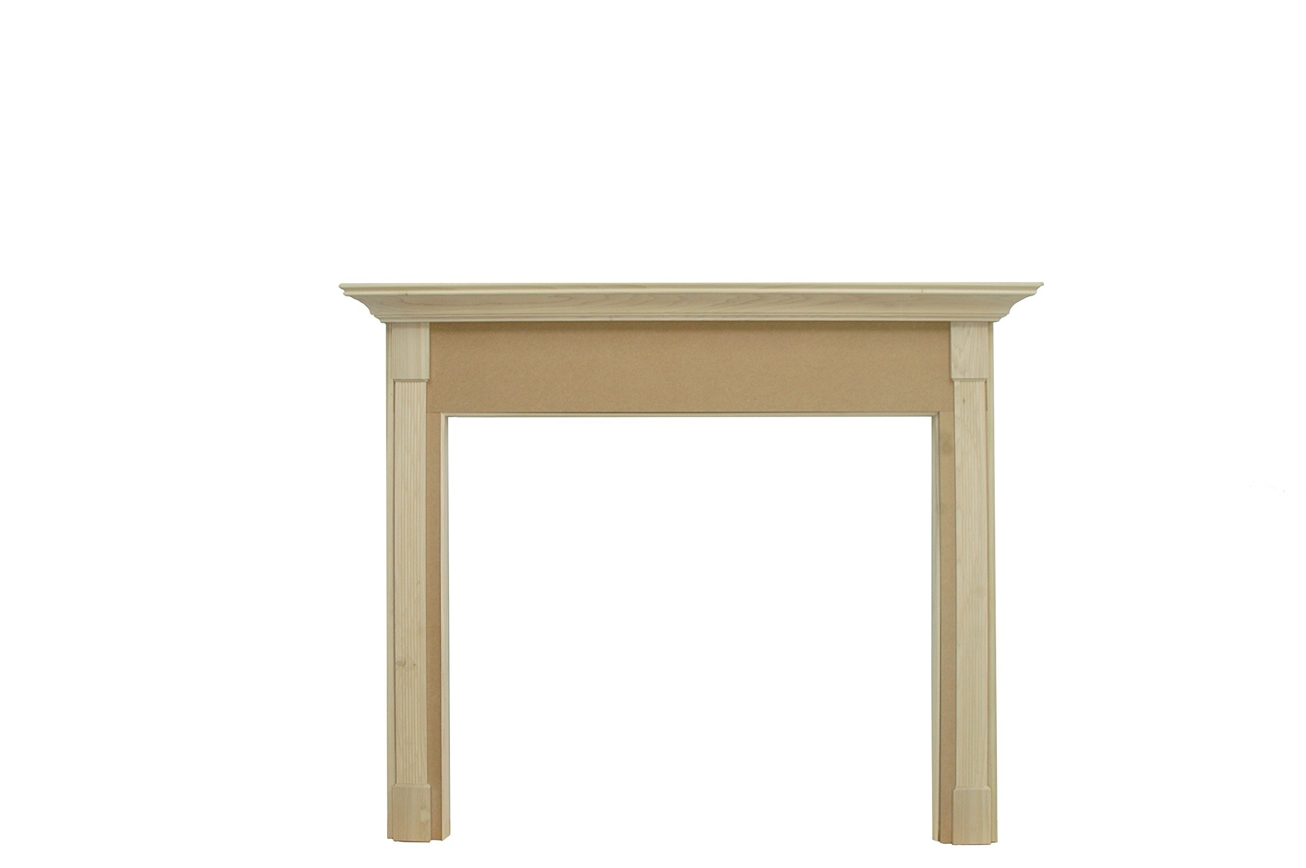 New England Classic Paint Grade Unfinished Greenhill Fireplace Mantel 54'' x 42'' x 1 1/2'' by New England Classic