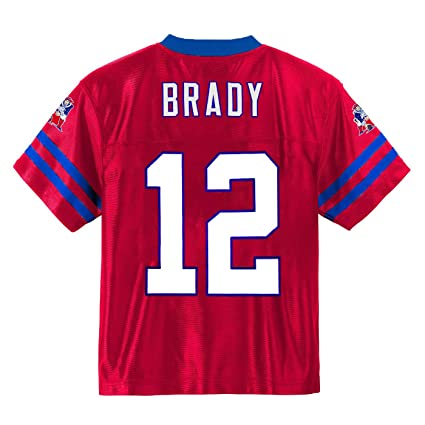 147e90d0 Outerstuff Tom Brady New England Patriots #12 Red Youth Alternate Player  Jersey (Small 8