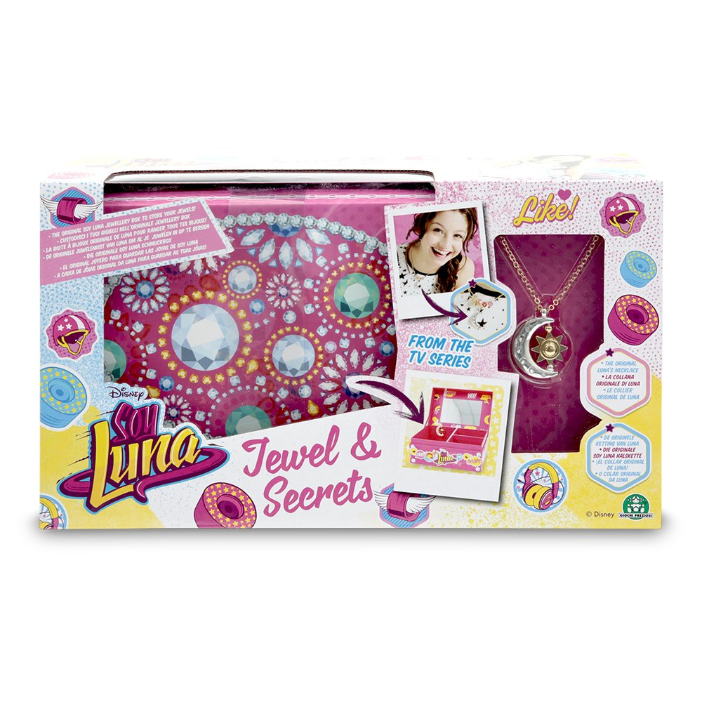 Amazon.com: Soy Luna necklace moon shaped pendant with jeweler: Toys & Games