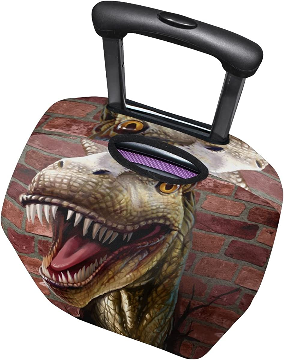 Tyrannosaurus Rex Dinosaur Pattern Print Luggage Cover Travel Suitcase Protector Fits 18-21 Inch Luggage