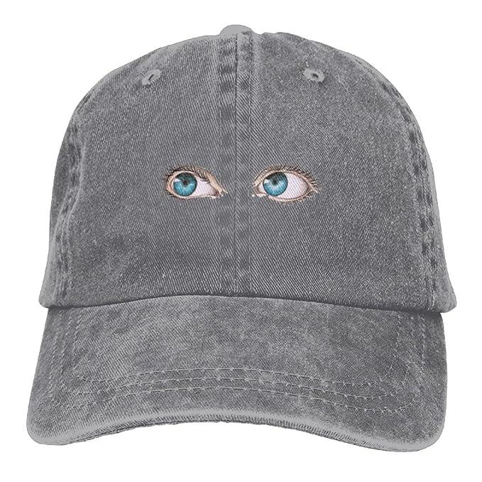 Lichang Blue Eye-Lashes Unisex Hip Hop Adjustable Baseball Cap Dad ... 7f1fa5b4d10