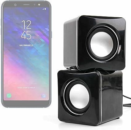 DURAGADGET Altavoces Compactos para Smartphone Samsung Galaxy A6, Samsung Galaxy A6+: Amazon.es: Electrónica