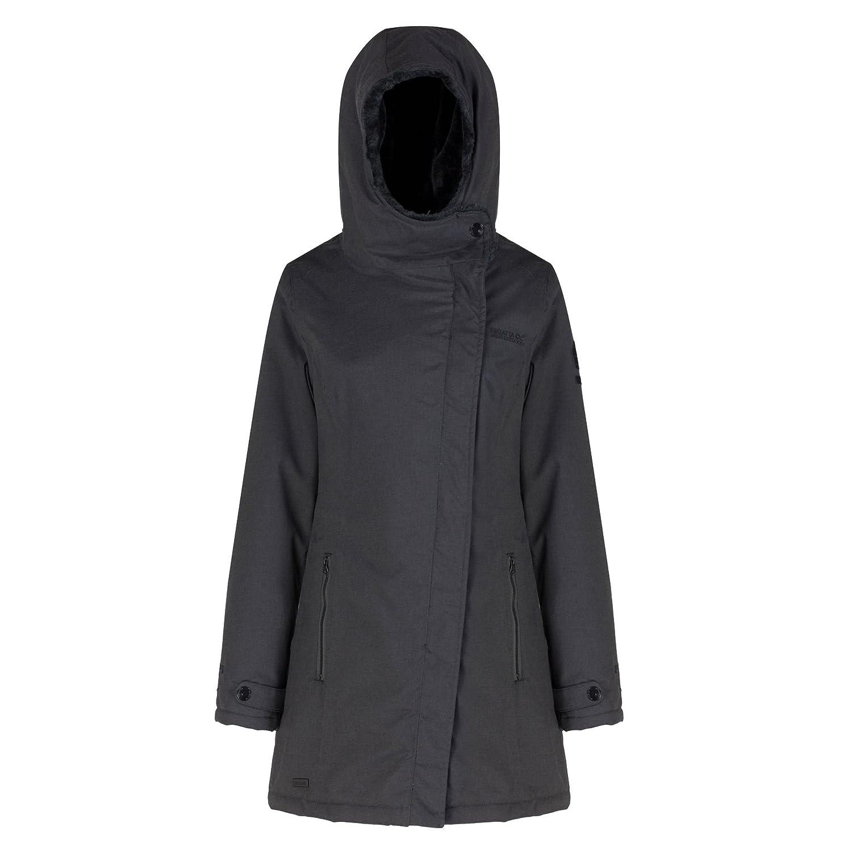 Regatta - Abrigo impermeable serissa para mujer (48/ceniza)