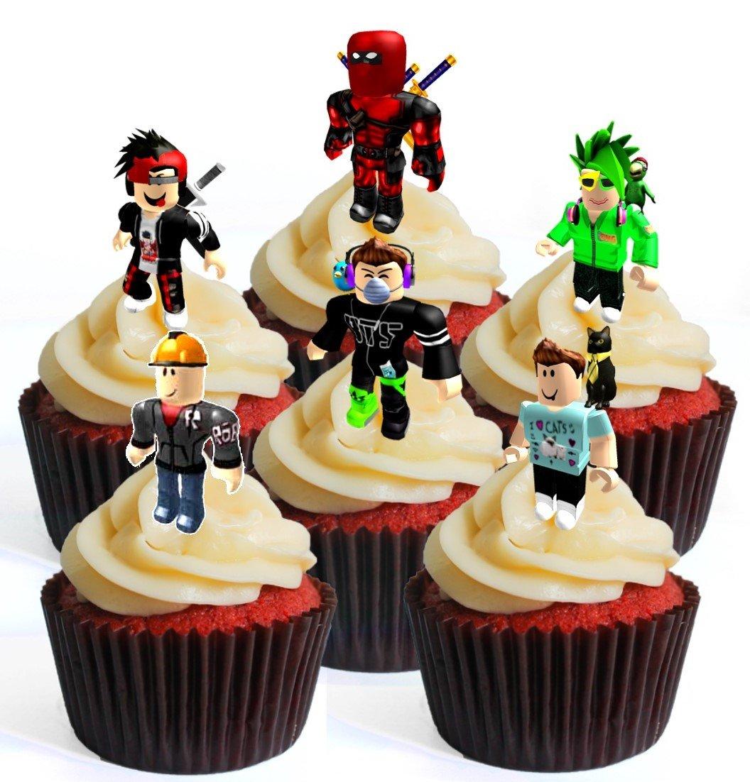 12 obleas comestibles para cupcakes de Roblox Character Boy #3 ...