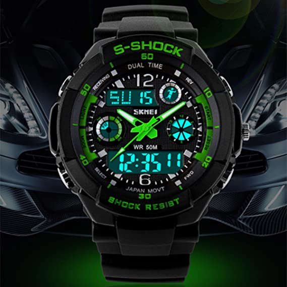 Amazon.com: Relojes de Hombre 2018 Men Sports Watches Led Digital Quartz De Hombre Para Caballero RE0022: Watches