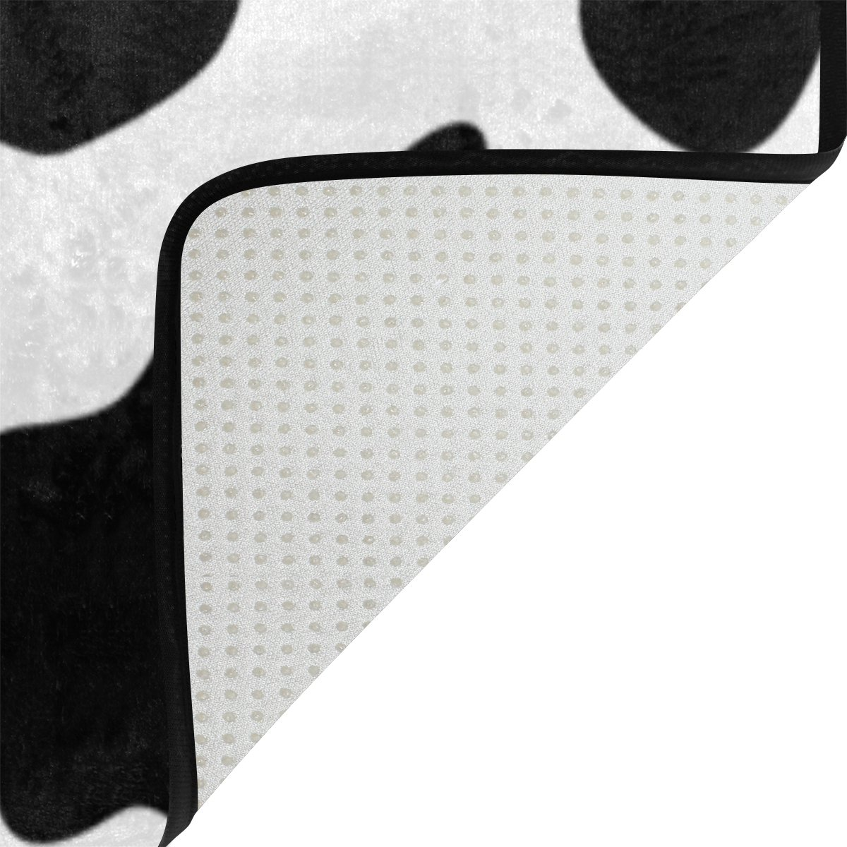 My Little Nest Black and White Cow Spot Kids Cartoon Area Rug 4'10'' x 6'8'' For Bedroom Dining Room Living Room Floor Mat Lightweight Carpet, Unique Anti Skid Indoor Outdoor Decor Soft Rug Carpets by My Little Nest (Image #4)