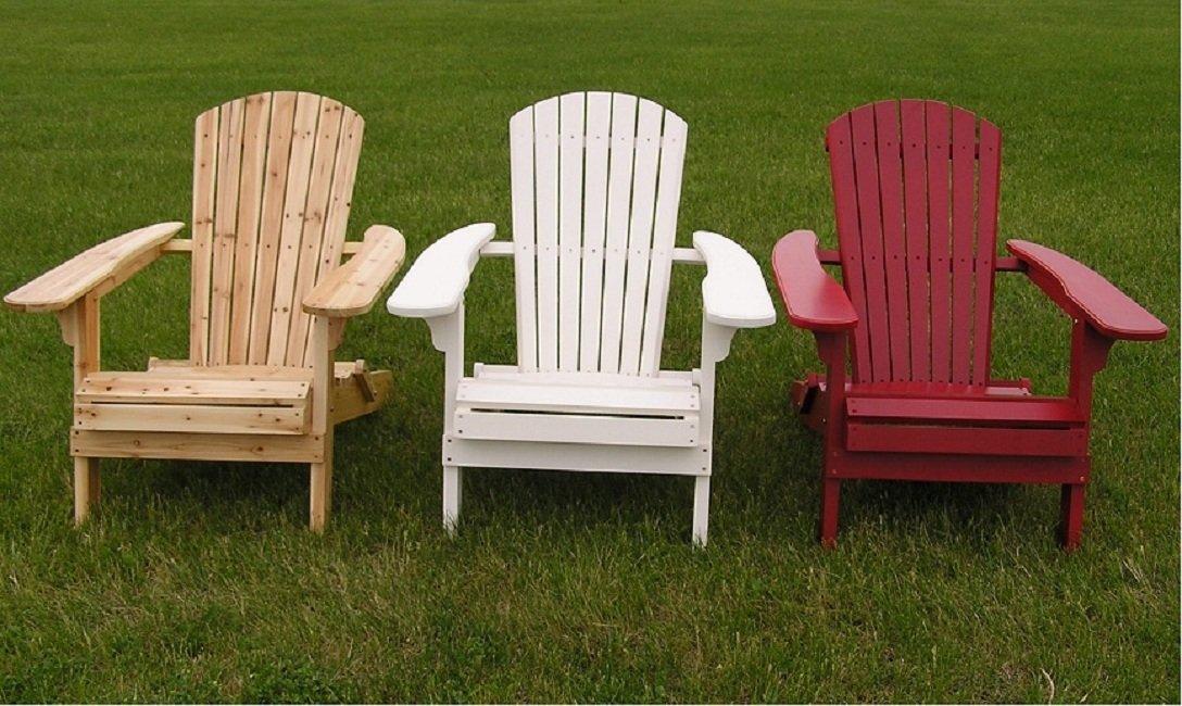 Wonderful Amazon.com : Deluxe White Cedar Big Daddy Folding Adirondack Chair, White :  Garden U0026 Outdoor
