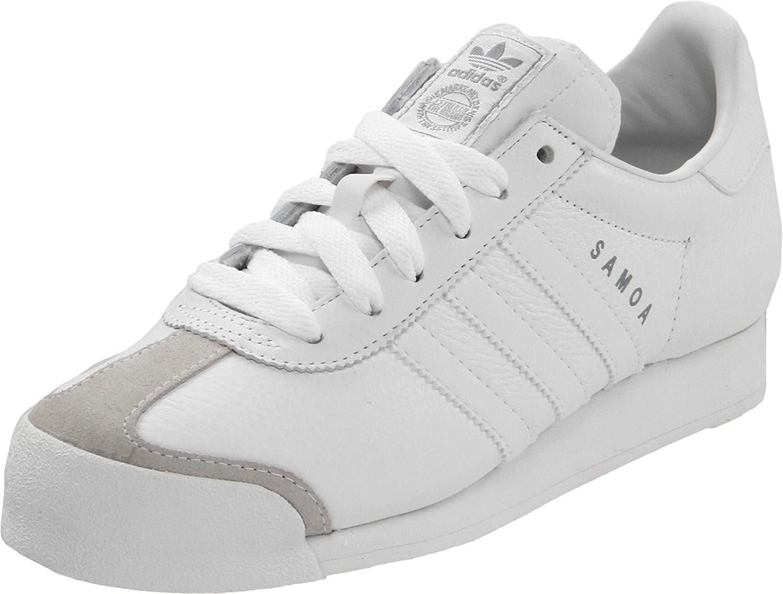 8085cb94c1eb2 adidas Originals Men's Samoa Retro Sneaker Running Shoe White/Silver, 13 M  US