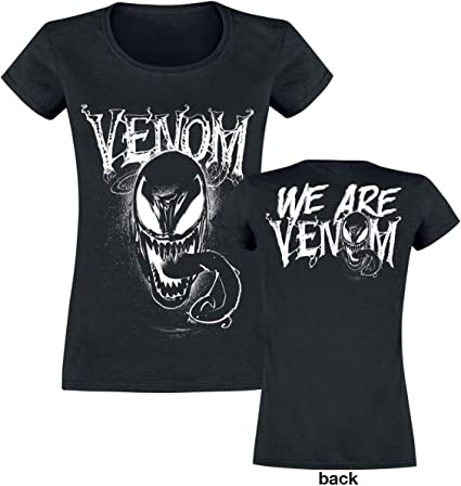 Venom (Marvel) We Are Venom Mujer Camiseta Negro, Regular