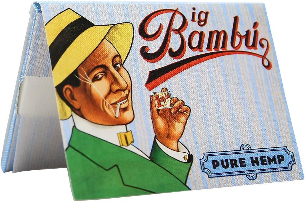 50PC DISPLAY Kingsize Bambu Organic Hemp Rolling Papers
