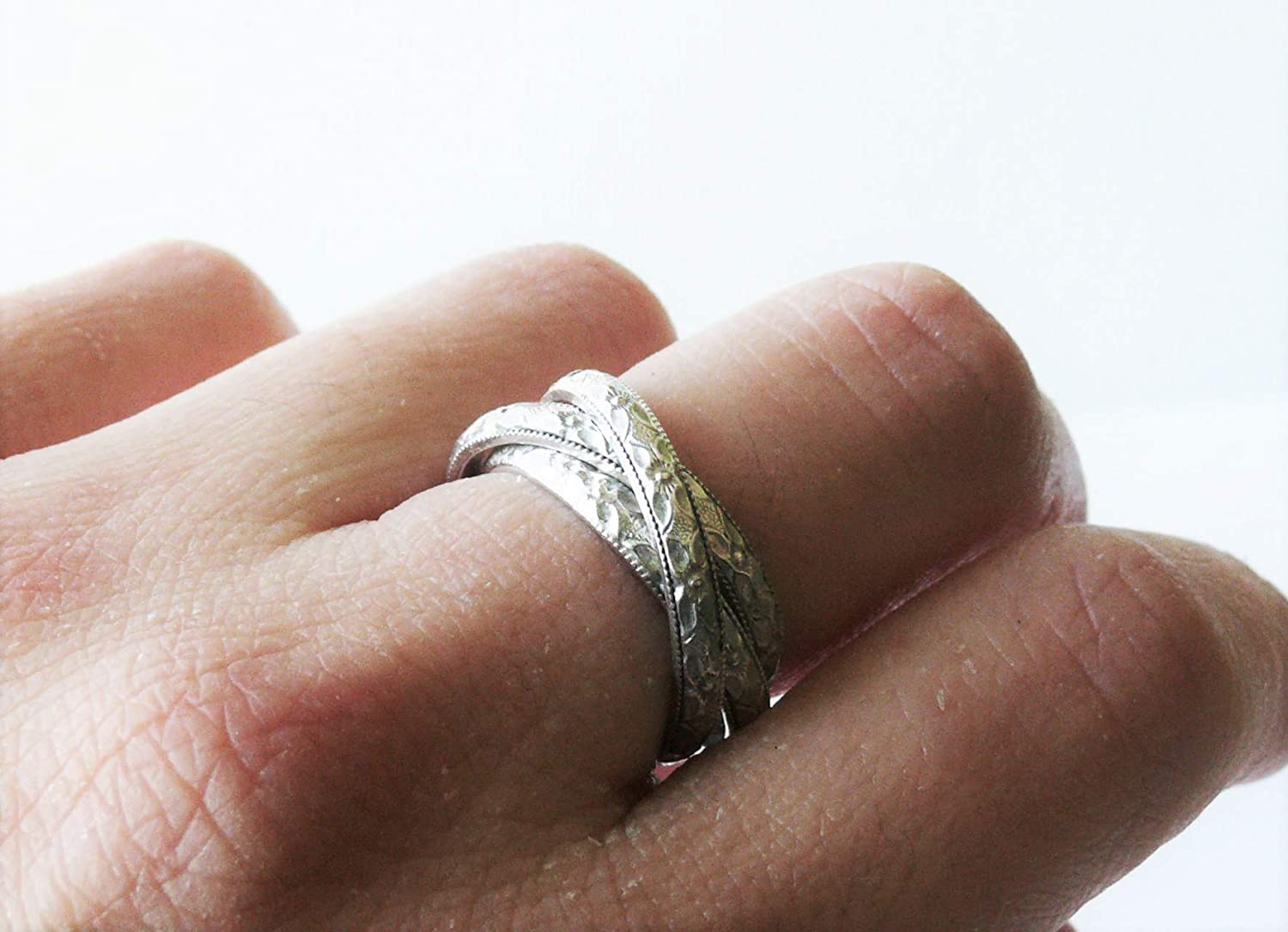 Amazon Com Silver Rolling Ring 925 Sterling Silver Russian