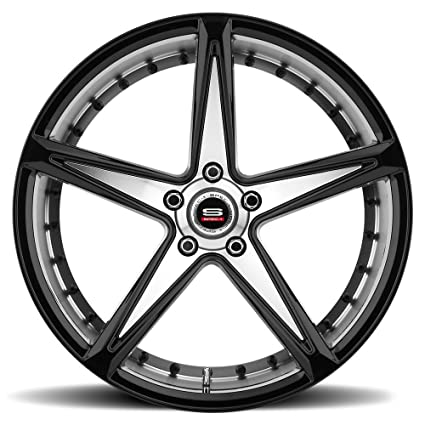 Amazon Com Spec 1 Monotec Spm 78 Gloss Black Machined Wheels 20x10