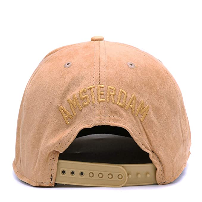 ANDERDM Solid Suede Snapback caps Dames Embroidery Letter Hip hop Cap Men Women Brown Outdoor Sports hat Casual Gorras at Amazon Mens Clothing store: