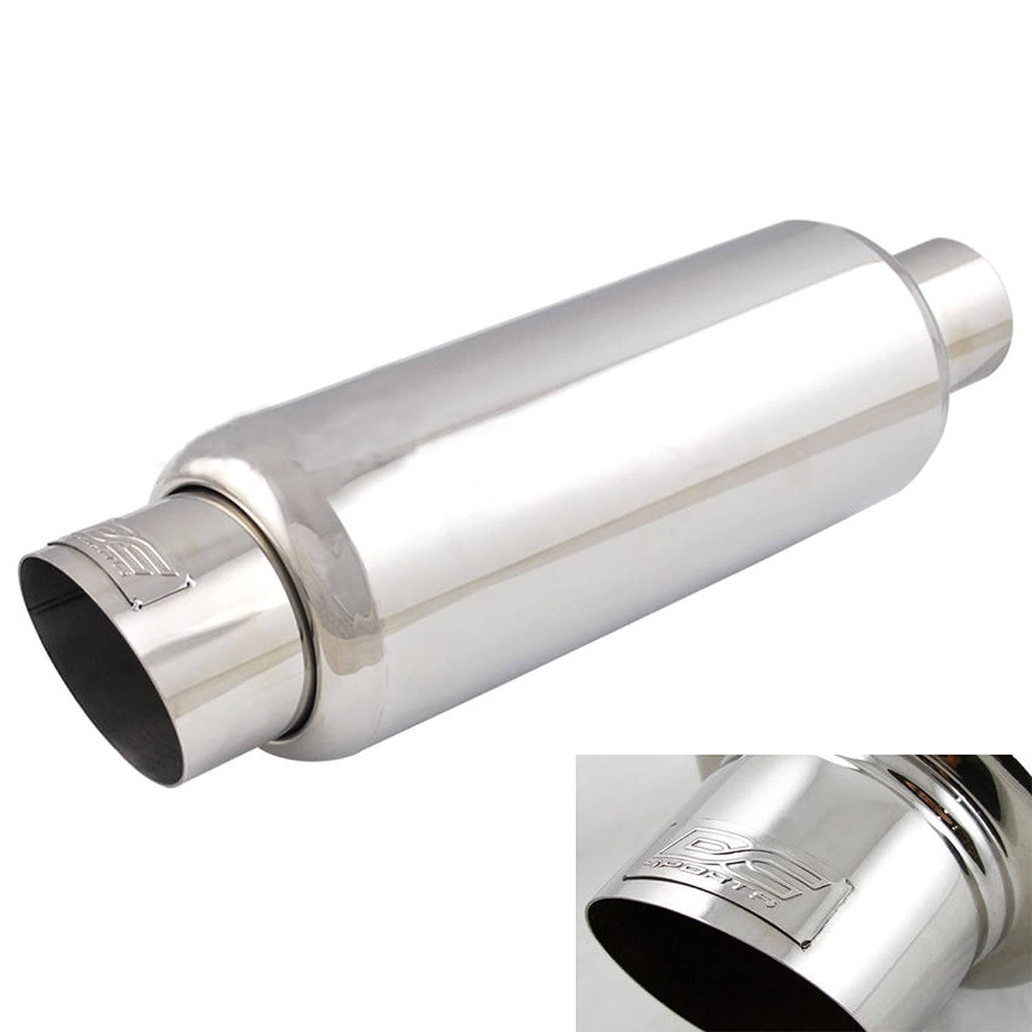 DC Sports Stainless Steel Universal Muffler