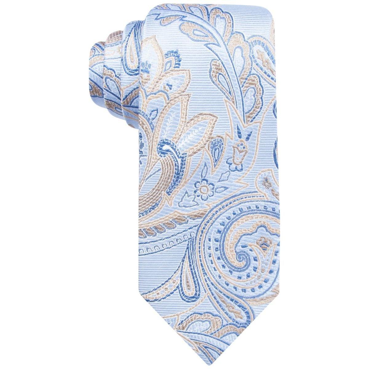 Tasso Elba Mens Genoa Paisley Neck Tie Blue