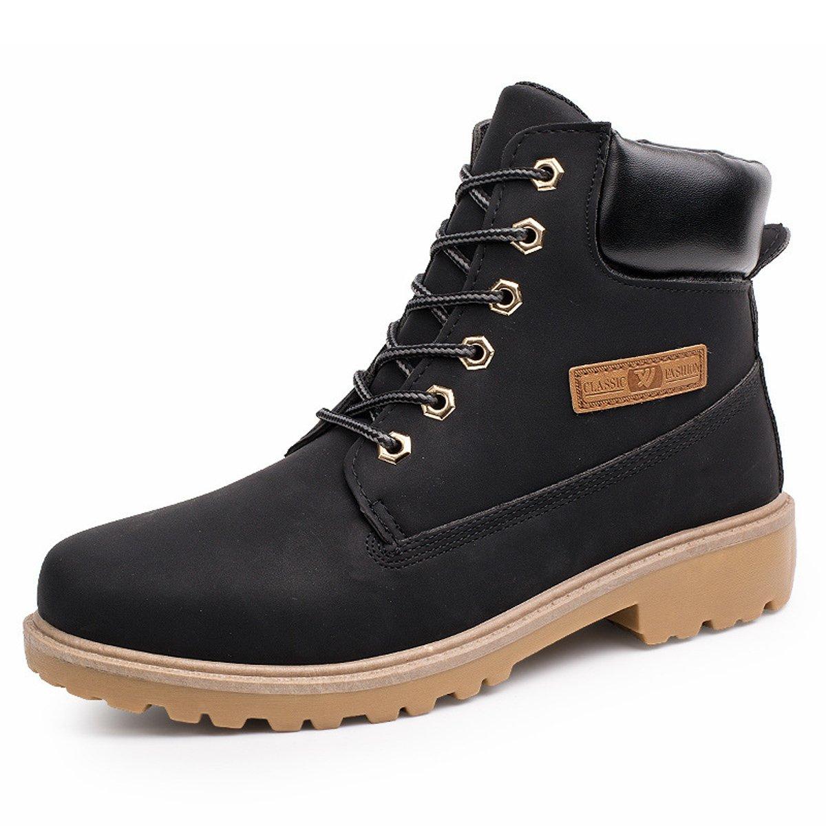 8125796398d71b Santimon Herren Damen Leder Schnüren Sich oben Arbeit Desert Boots Stiefel  Stiefeletten Outdoor Schuhe Grün 44