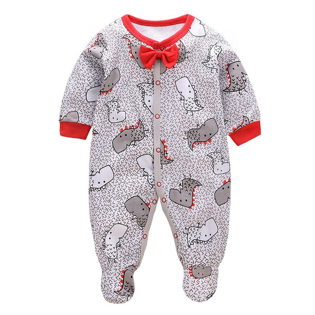 Bebé Niños Pijama de Algodón Pelele Mameluco de Manga Larga ...