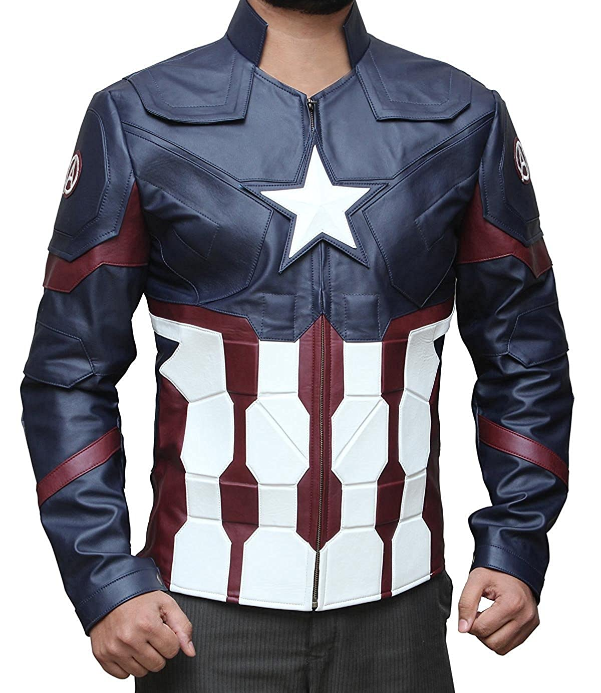 Captain America: Civil War Men's captain America Faux Leather Jacket