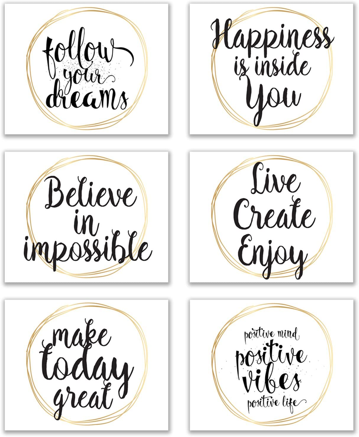 SET OF 3 Infinity Wall Art Poster Picture Prints Home Bedroom Bathroom Hall