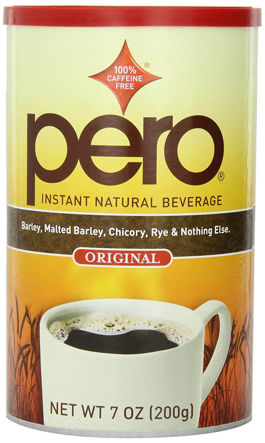 Pero Instant Natural Beverage, 7-Ounce Canisters (Pack of 6)