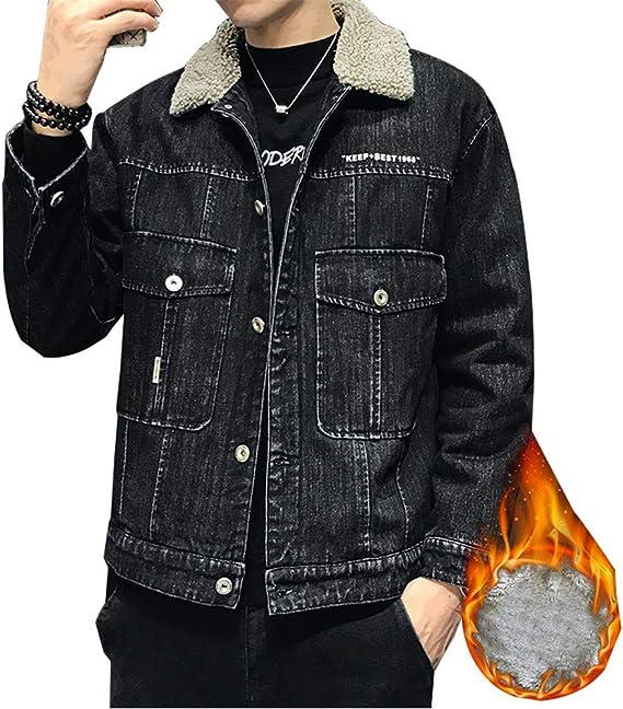 【BACTIM】 品質保証メンズ デニムジャケット 裏ボア.フリース 裏起毛厚手 ムートンコート アウターゆったり上着ファッション厚手防風暖かいミリタリーカジュアル秋冬着