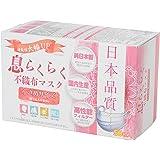 アズフィット 日本品質 息らくらく 不織布マスク 小さめサイズ 50枚入