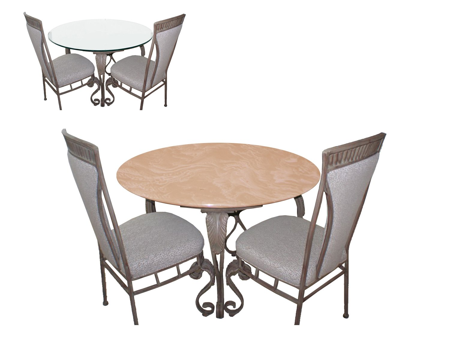 Fitted Table Cover for Glass Tables up to 48 Dia. Color Mocha for All Round Tables, Dining Tables, Patio Tables, Indoor Outdoor