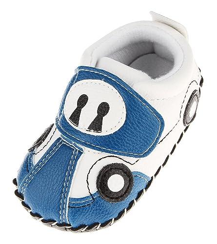 8e3c0938f2545 Cloud Kids Chaussures Premiers Pas Bébé Garçon Chausson Bébé Chaussure Bébé  en Cuir PU Souple (