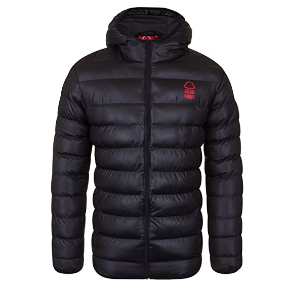 2025a881edb Nottingham Forest FC Official Gift Mens Quilted Hooded Winter Jacket Small