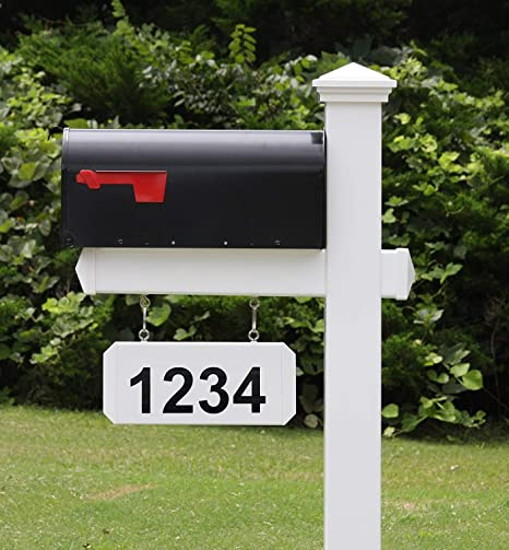 4ever Products The Jackson Complete Mailbox System Vinyl Pvc Post Includes Mailbox Decorative Curbside Postal Solution With Classic Traditional Style And Hanging Address Plate Black Mailbox Amazon Ca Patio Lawn Garden